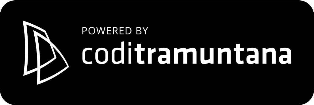 Logo coditramuntana v3 powered black shape