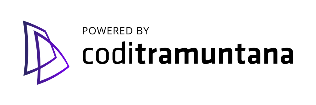 Logo coditramuntana v3 powered white shape