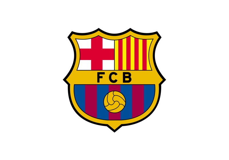 FCB logo, internationally known in the sports sector