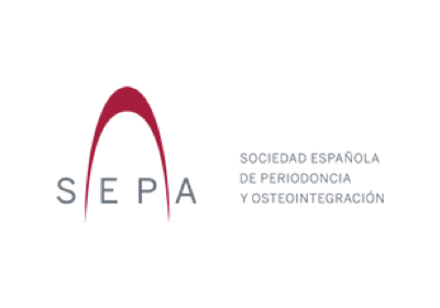 Logo of the SEPA organization, Spanish foundation of periodontics and dental implants