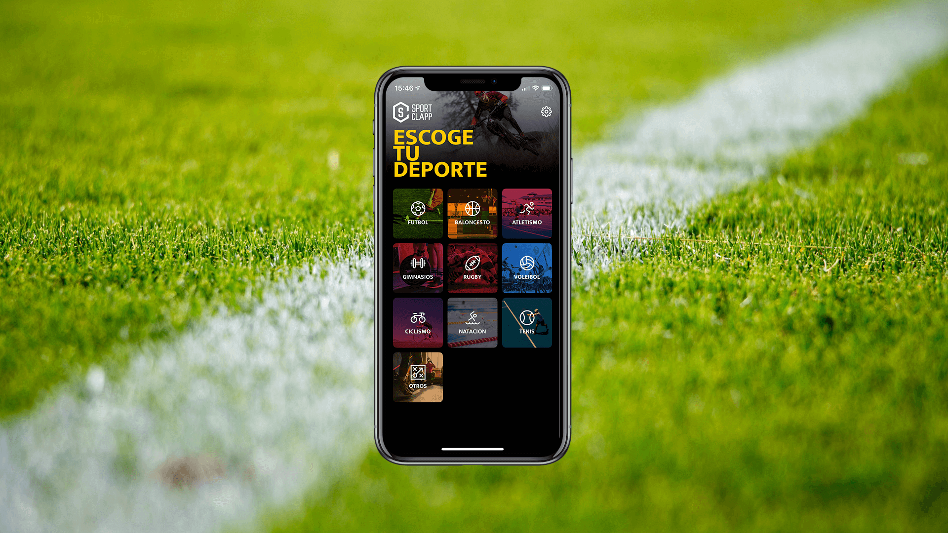 IOS App and Android App Sportclapp menu image