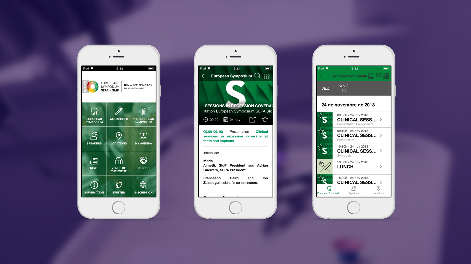 Mobile App of SEPA Congresses (Android App and iOS App)