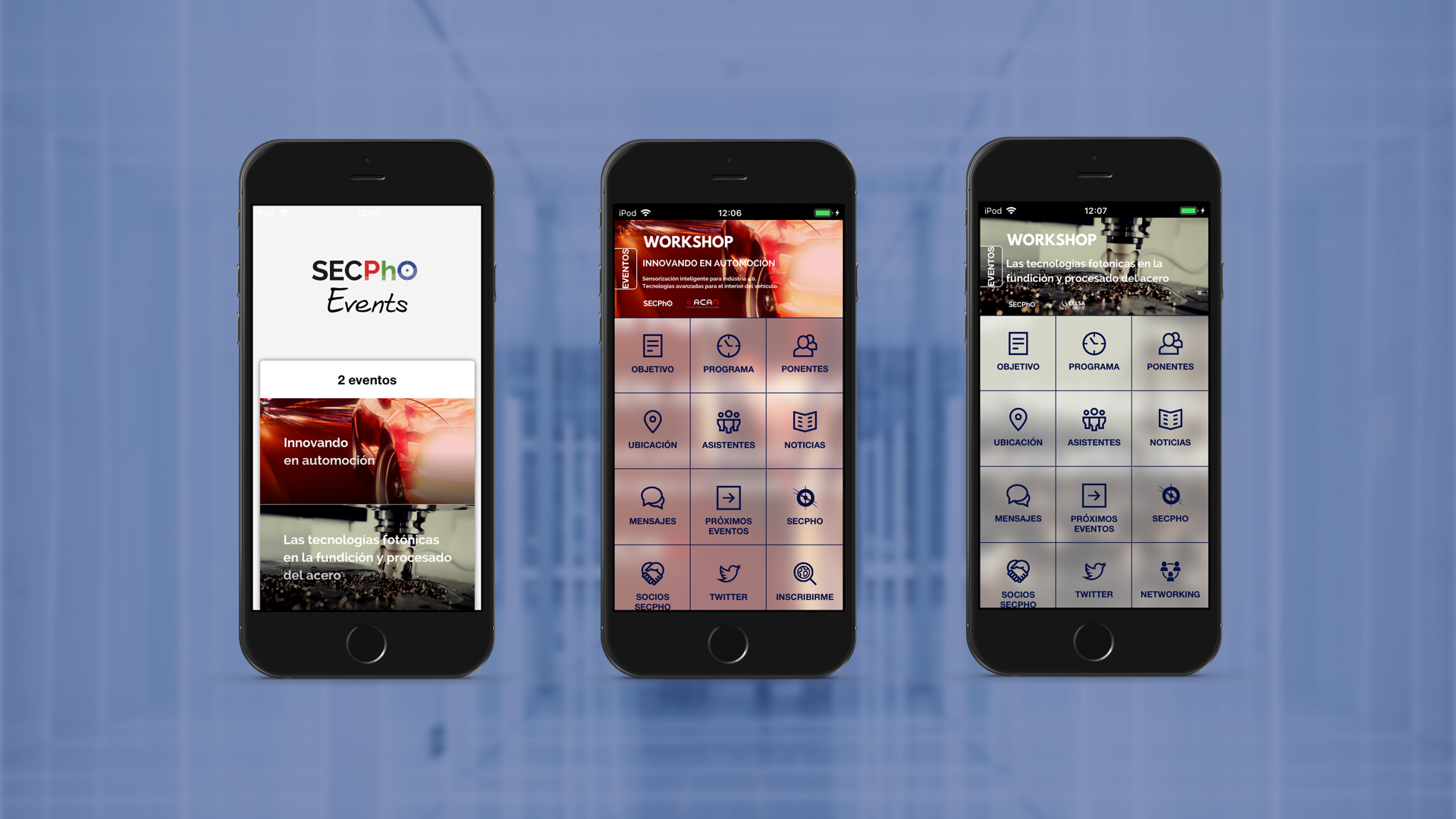 Mobile App of SECPhO Events (Android App and iOS App)
