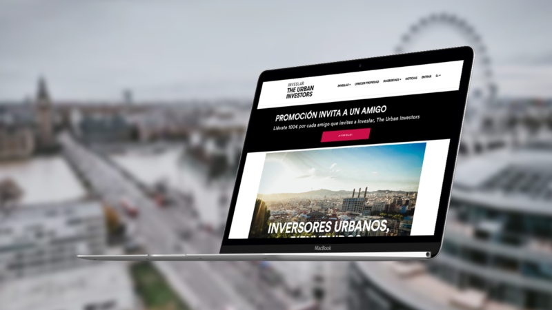 Web design of a real estate crowdfunding website