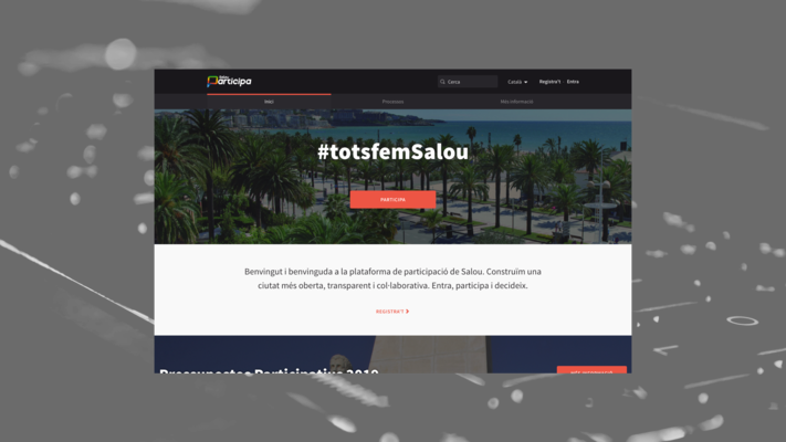 Web design of the democratic participation platform Decidim of the Salou City Council
