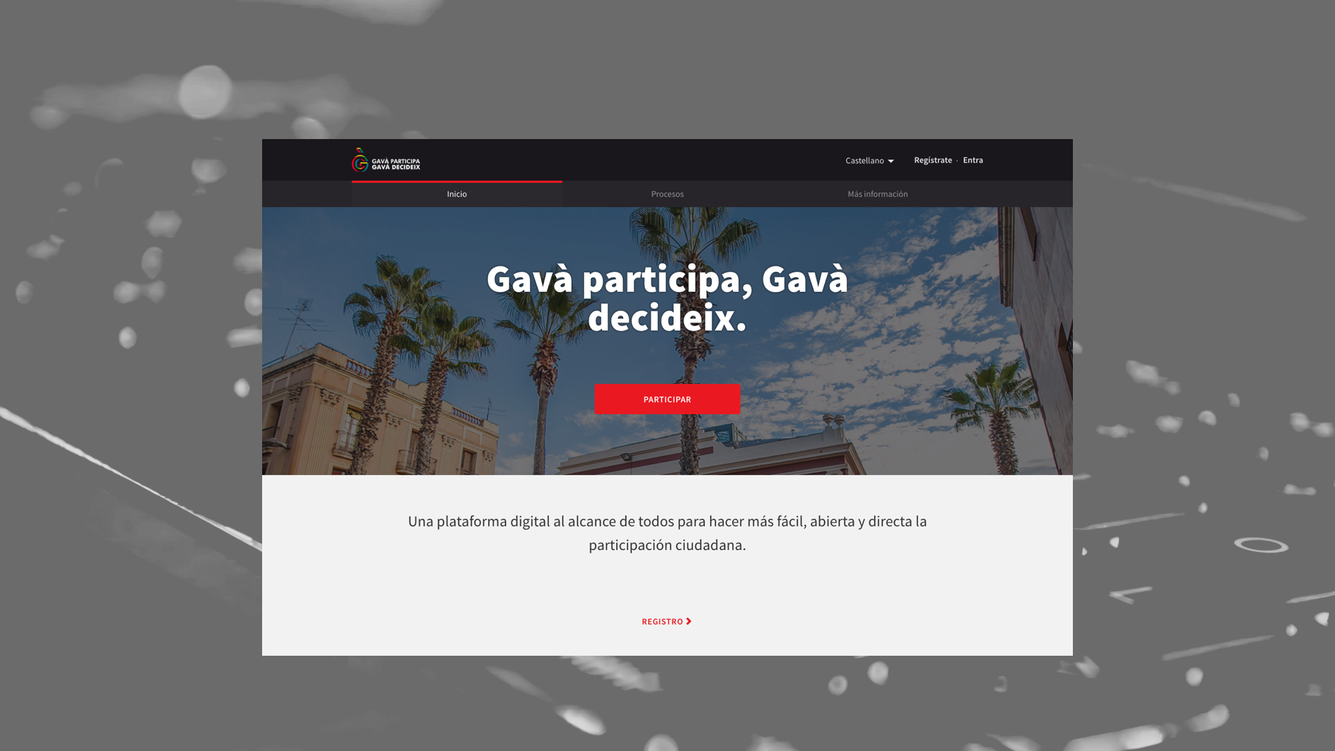 Design of the democratic participation platform Decidim of the Gavà City Council