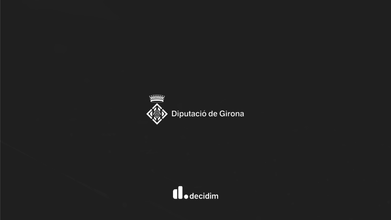 Decidim logo of the Girona Provincial Council