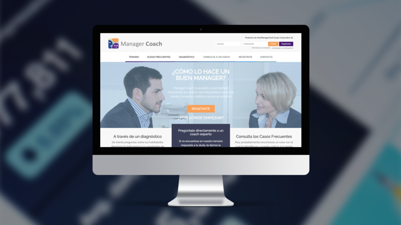 Home image of the Manager Coach software