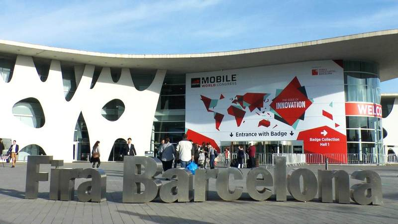 Entrance of the fairground of the MWC2015