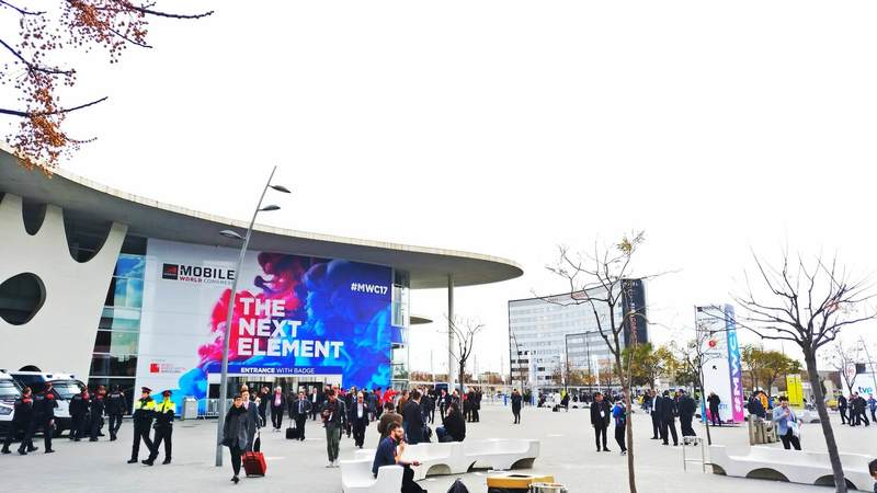 Building and entrance of the event MWC2017 of Barcelona