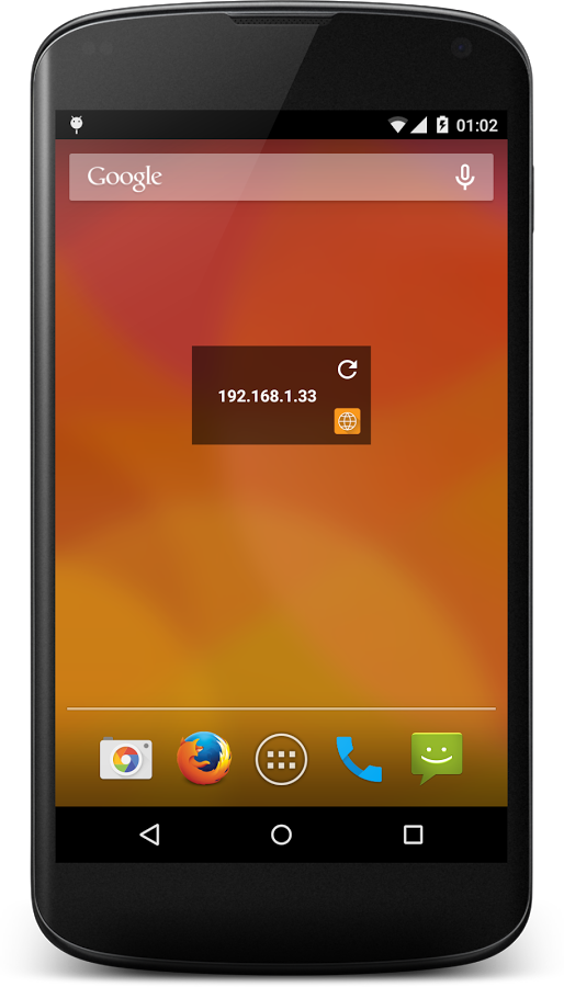 An Android smatphone with Network IP Tools application